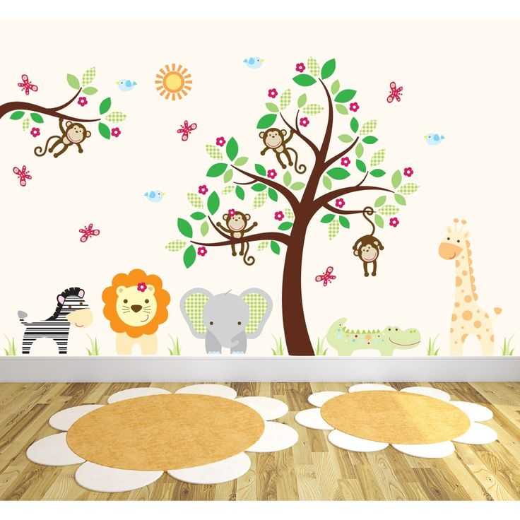 Deluxe Safari Nursery Wall Stickers £174.95   http://www.babynotincluded.co.uk/latest-products/deluxe-safari-nursery-wall-stickers.html