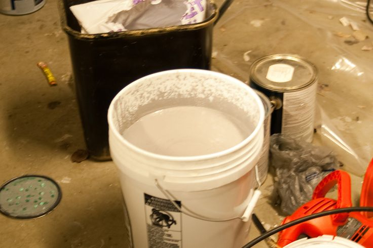 "MONSTER MUD A+ • ""Most tutorials you will encounter tell you that you want 1 gallon of paint to a 5 gallon bucket of drywall compound.• Truth is, there is no magic formula, just mix some of each and start to play. If you want to be fighting to try to fit 6 gallons of stuff into a 5 gallon bucket, more power to you. • My own recipe is: 1 5 gallon bucket. 1 BOX of drywall compound. 1 gallon latex paint."" UnOrthodOx -halloweenforum"