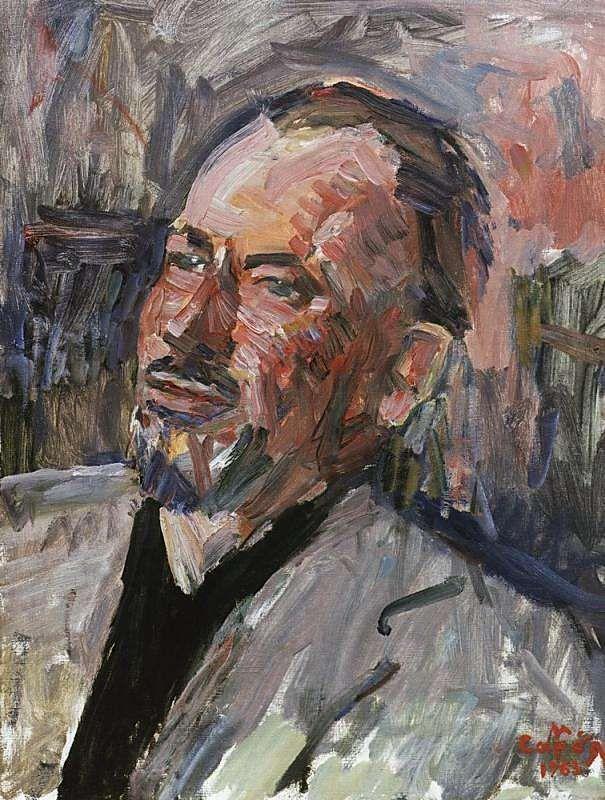 1963 Портрет Джона Стейнбека. Х., м. 60х46 ЧС (МС q) - Сарьян Мартирос Сергеевич
