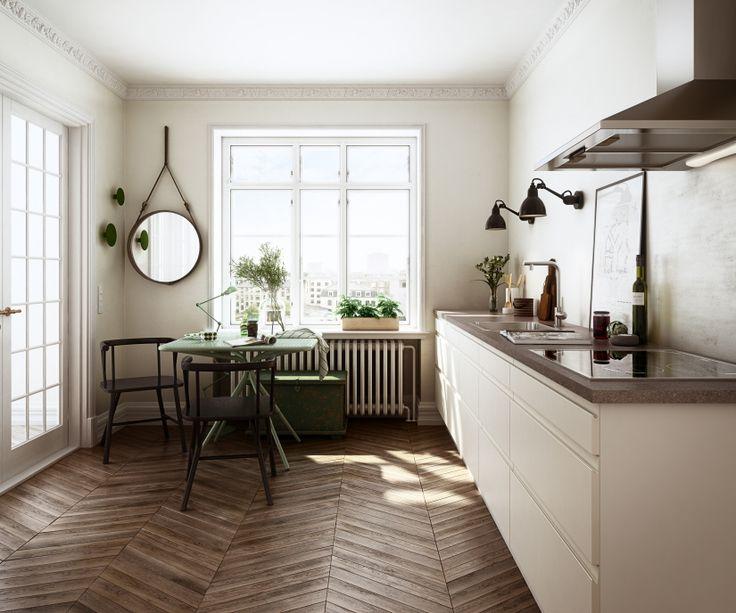 HTH // Høyglans og rustikt golv