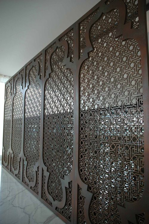 Moroccan screen Australian made steel - love this idea as a sliding door
