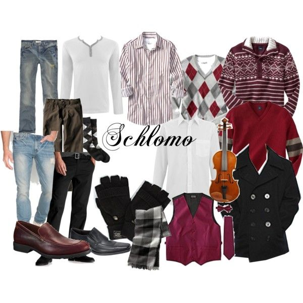 Fame - Schlomo by alicelowndes on Polyvore featuring Gap, Bullhead Denim Co., FOSSIL, OBEY Clothing, Spiewak, Old Navy, SOLD Design Lab, costume design, fame and schlomo