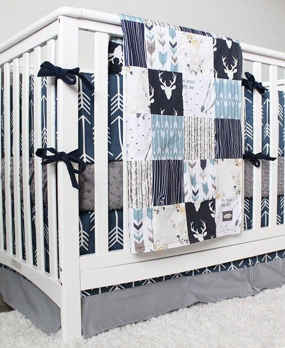 Woodland Nursery Boy Crib Bedding Set