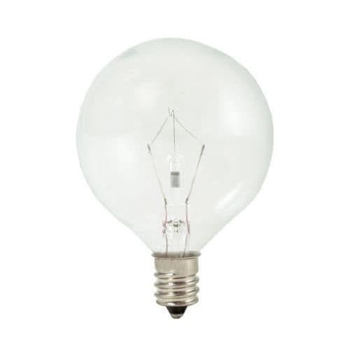 Bulbrite 461240 Pack of (10) 40 Watt Dimmable G16.5 Shaped Candelabra (E12) Base Xenon / Krypton Bulbs, White