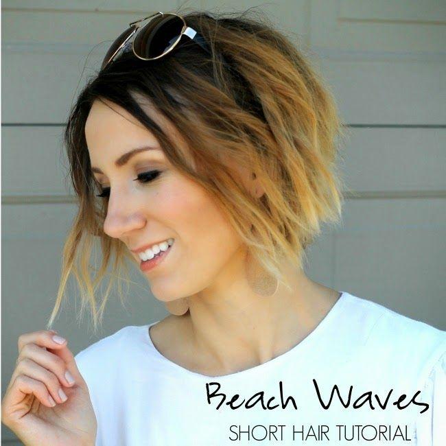Beach waves for short hair tutorial- easy Summer beauty style #walgreensbeauty #…