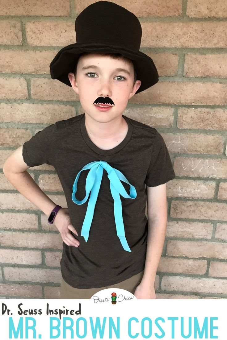 Dr Seuss Inspired Mr Brown Costume With Images Diy