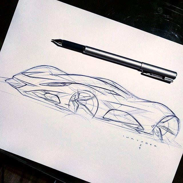 my monday motivation! #inktober #inktober2016 #sketch #hypercar #supercar #cardesigncommunity #sportscar #conceptcar #oneday