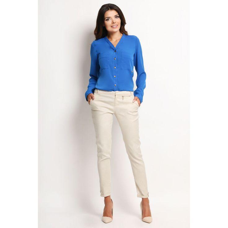 Camasa albastra cu buzunare Awama #prettymodaro #camasa #camasidama #camasioffice
