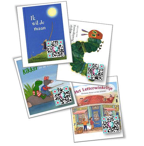 QR-code kaarten prentenboeken
