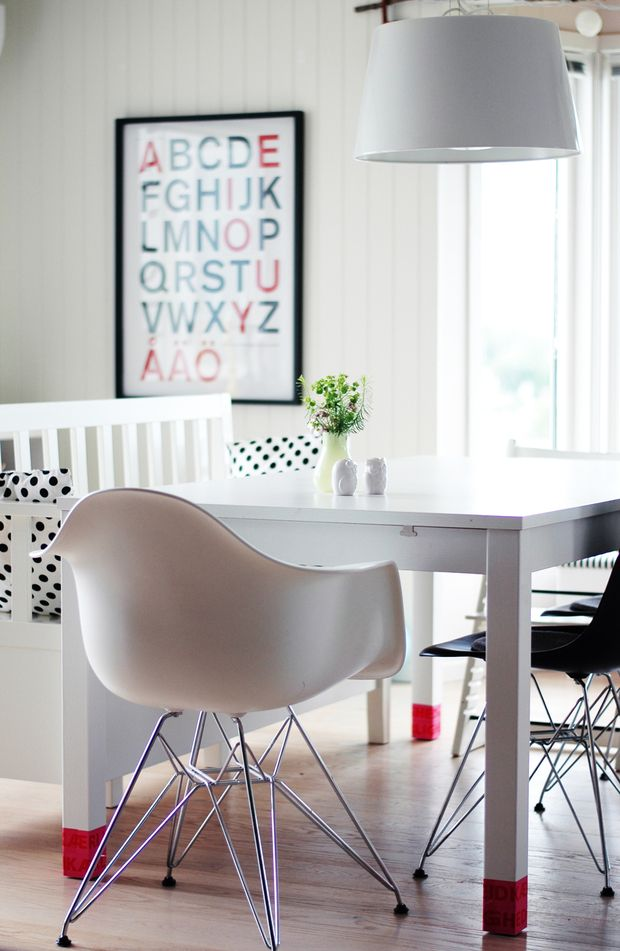 Dipped Table Legs DIY Pinterest Summer Eames And