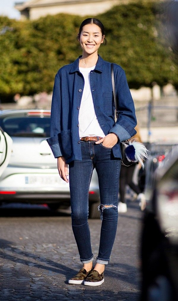 Opt for a chambray-like shirt for an unexpected twist.
