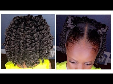 Two Strand Twist Out W Bantu Knots Kids Natural Hairstyle Iamawog Youtube Mommy Amp Me