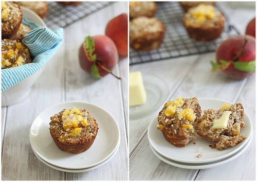 Peach coconut almond flour muffins | Recipe
