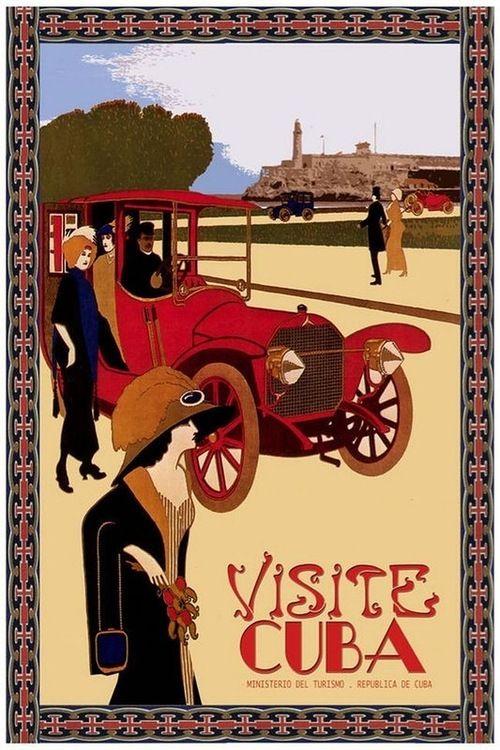 Vintage Cuba Travel Poster  Poster