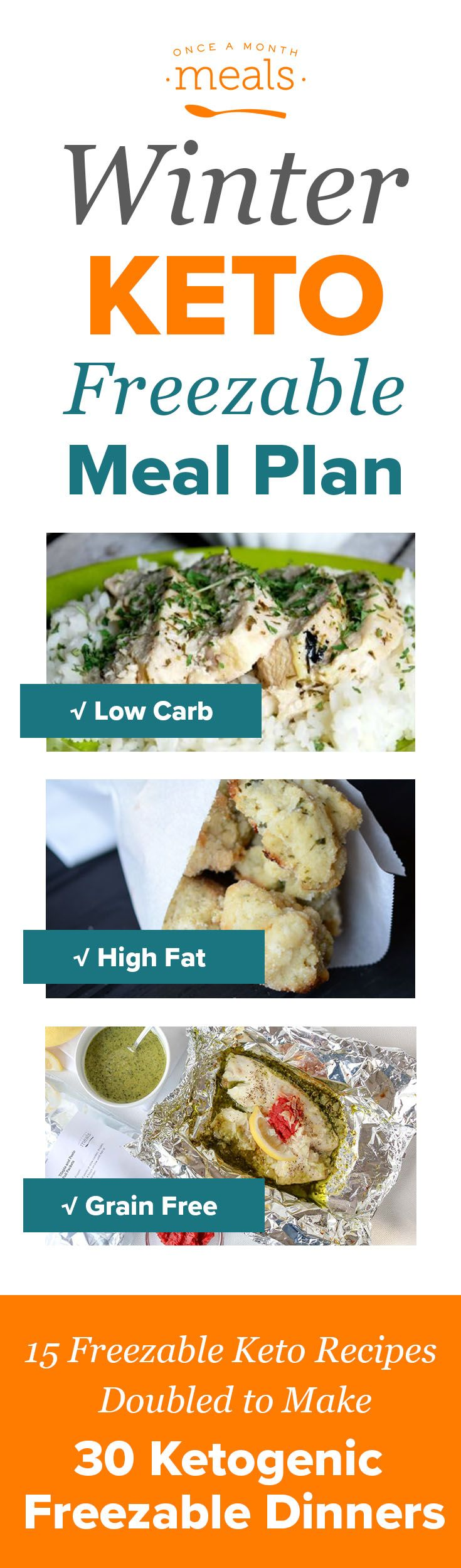 Start off the New Year with these tasty keto friendly freezer meals.  Save time with this Winter Keto Menu and savor the Bacon Chorizo Meatloaf and Spinach Cilantro meatballs.