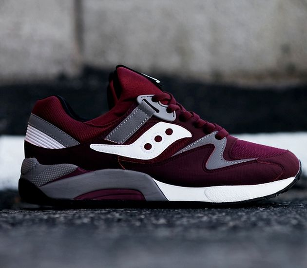 Saucony Grid 9000 – Burgundy / Grey