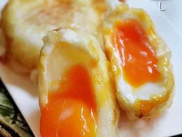 冷凍卵の天ぷらの画像