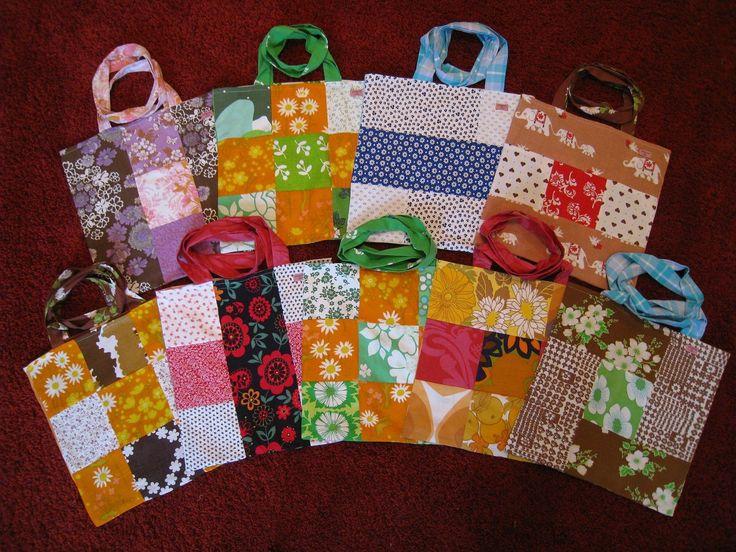 DIY patch bags from retro fabrics