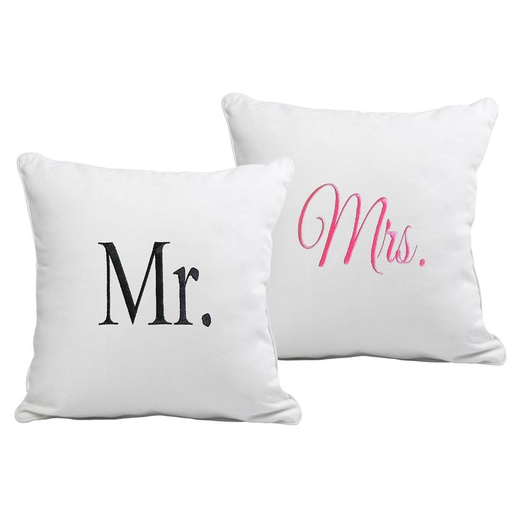 2ct Mr. & Mrs. Wedding Throw Pillow Set