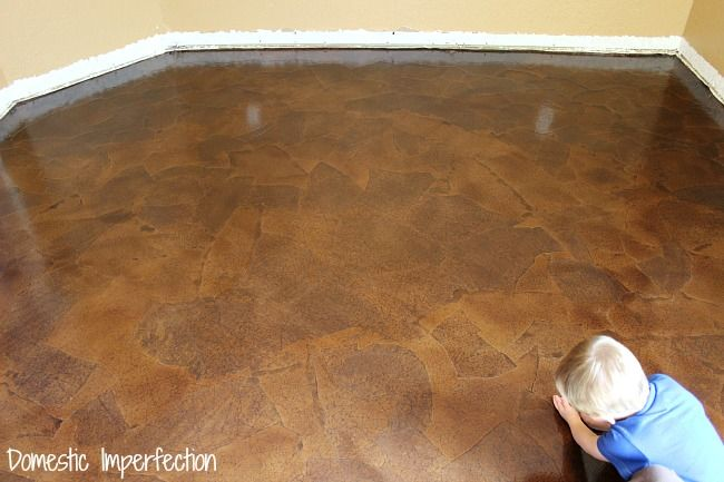 Affordable diy flooring solution paper bag floor oh my for Affordable basement flooring