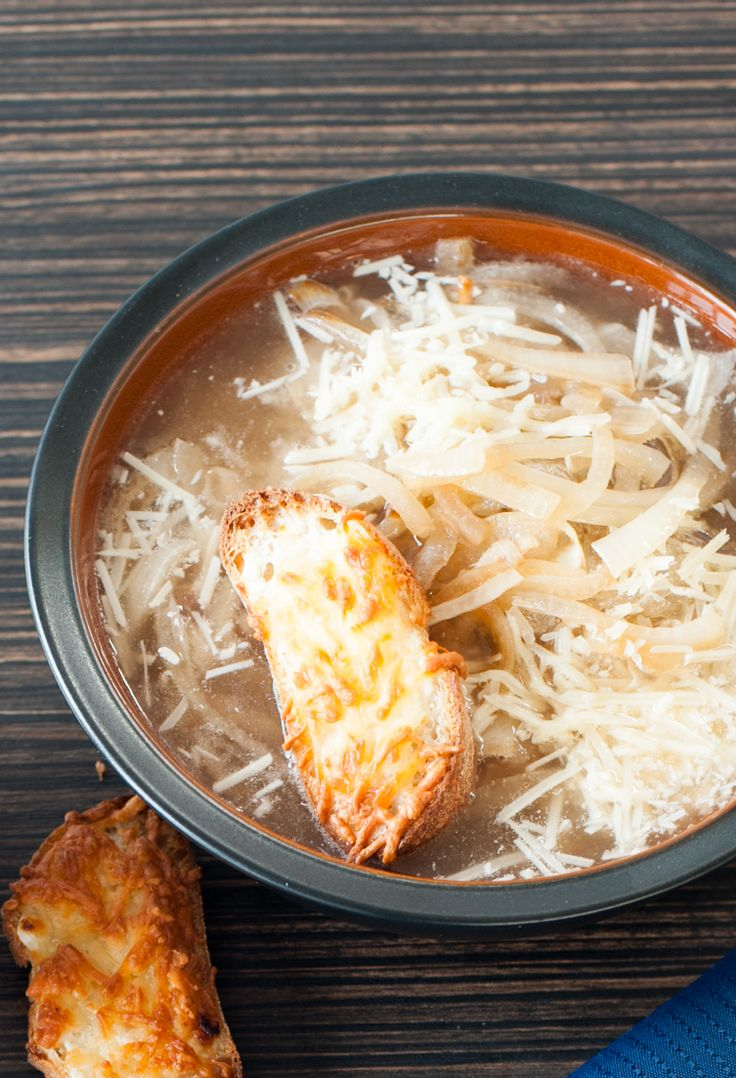 #Epicure Skinny French Onion Soup #vegetarian #meatless #appy