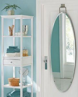 Lovely Over Door Beveled Door Mirror