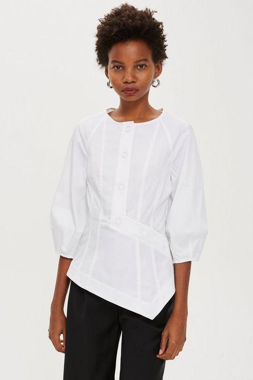Button Front Blouse Top By Boutique Fashion Pinterest Topshop