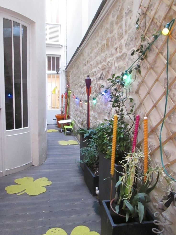 A very cosy and colourful outdoor passage!