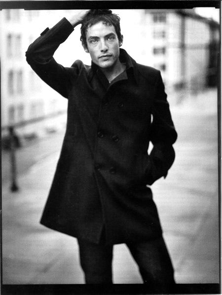 Jakob Dylan. (I had this picture on my refrigerator in college for about three years. Just occurred to me that this may have been where my pea coat obsession originated.)