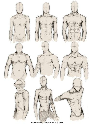 Male body study 1