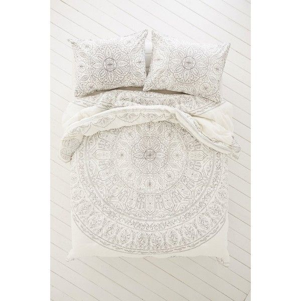 Plum & Bow Soukay Delicate Comforter ($149) via Polyvore featuring home, bed & bath, bedding, comforters, king bedding, twin xl comforter, floral comforter, cotton bedding and twin xl bedding