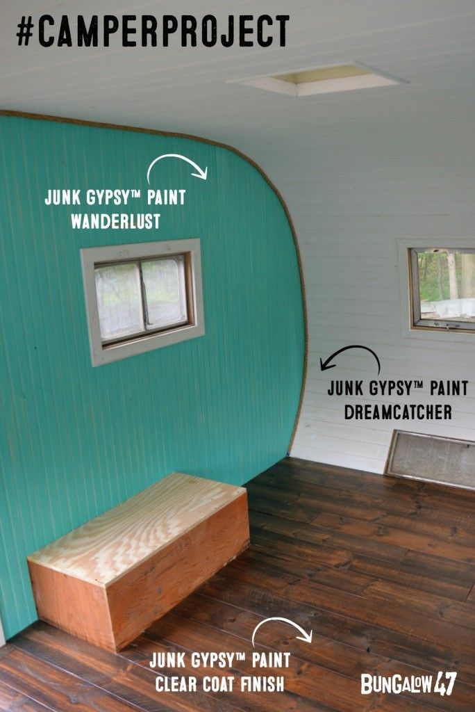 Vintage Camper Project - Finished with Junk Gypsy™ Paint and Clear Coat finish.