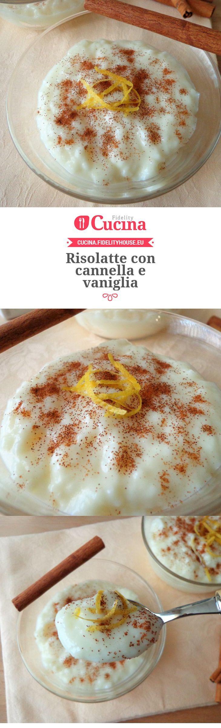 Risolatte con cannella e vaniglia della nostra utente Magdalena. Unisciti alla nostra Community ed invia le tue ricette!