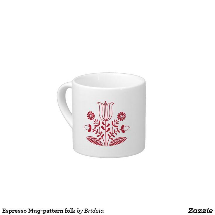 Espresso Mug-pattern folk Espresso Cup