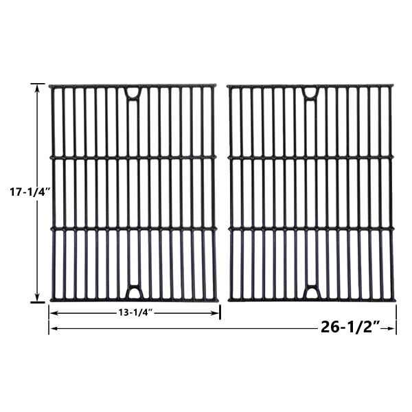 2 PACK PORCELAIN CAST IRON COOKING GRID REPLACEMENT FOR TERA GEAR 1010007A, NEXGRILL 720-0719BL AND PHOENIX KS10002 GAS GRILL MODELS Fits Compatible Tera Gear Models : 1010007A, 13013007TG Read More @http://www.grillpartszone.com/shopexd.asp?id=34013&sid=26874