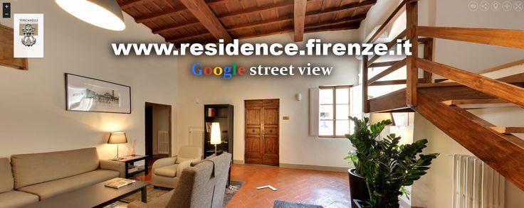 Abbiamo anche il virtual tour di Google street view, date una occhiata: http://www.residence.firenze.it/