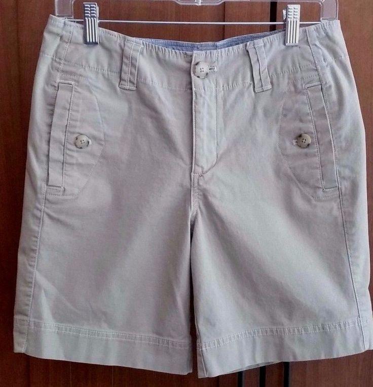 Eddie Bauer Women's Khaki Shorts Mercer Fit Size 4 EUC! #EddieBauer #KhakiChino