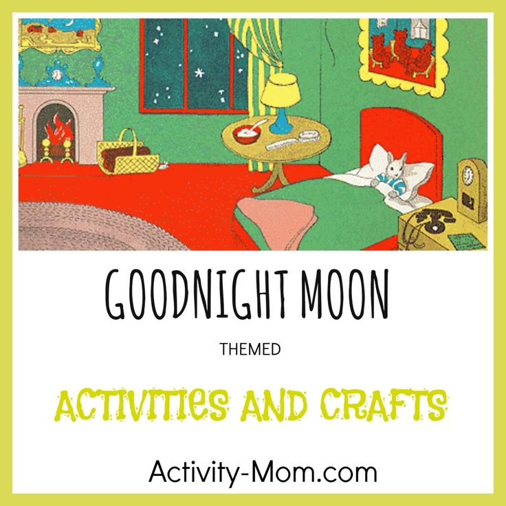 Goodnight Moon Activities - Begin the activity reading Goodnight Moon. Then, have IG pairs work together to discover things from the book in the sensory bin. This could tag onto other space or moon activities.