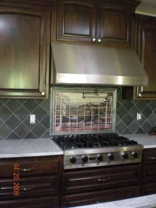 in grays - Ceramic Tile Backsplash