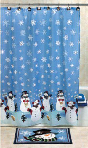 Snowman Shower Curtain Snowmen Winter Snow  | Cool Shower Curtains