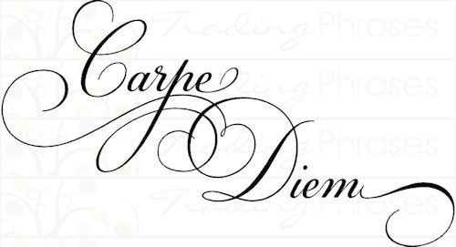 Carpe Diem Tattoo Typography