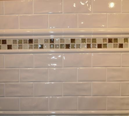 3 X 6 Antiga White Wavy Le Subway Tile With 2 Chair Rail 1 Pencil Borders Kitchens In 2018 Pinterest Tiles And