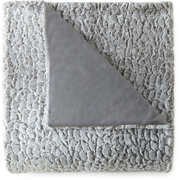 JCPenney Home™ Sculpted Faux-Fur Throw (€35) Liked On
