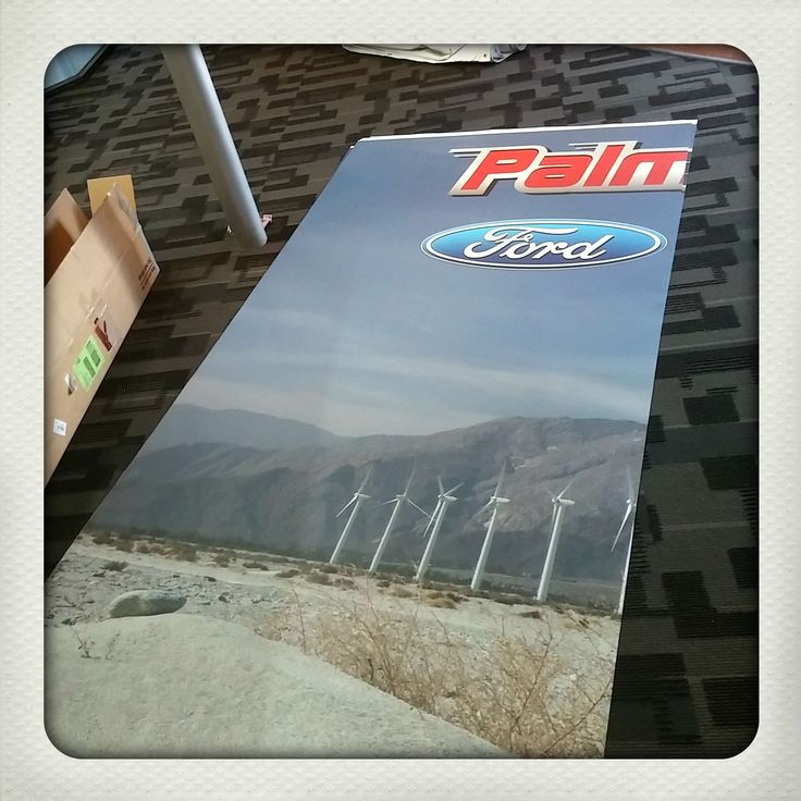 What do we have in the works for Palm Springs Motors? Interior Branding! Give us a call about our Interior Branding options. 760-935-3600 http://www.DesertWraps.com #PalmSprings #InteriorBranding #FordMotors