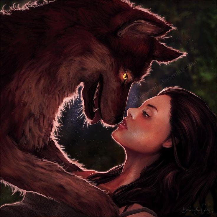 Картинка любви девушки к оборотню
