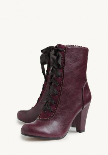 Victoria Lace-Up Boots By Chelsea Crew   Modern Vintage Boots   Modern Vintage Shoes