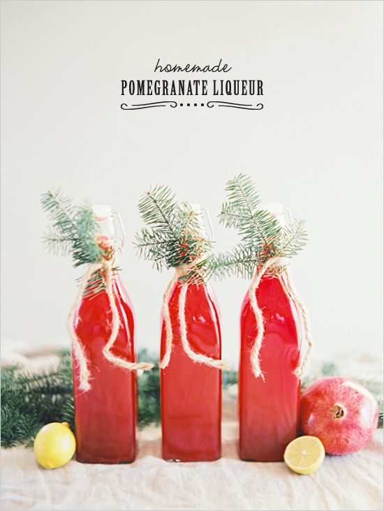 Homemade Pomegranate Liqueur http://www.weddingchicks.com/2013/12/25/artisanal-cocktail-recipes/
