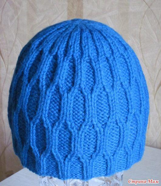 Рельефная мужская шапка + схема