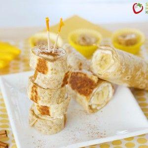 Warm Banana Roll-Ups