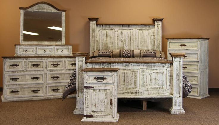 Santa Clara rustic pine bedroom set
